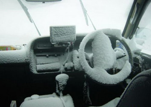 Frozen Car Interior