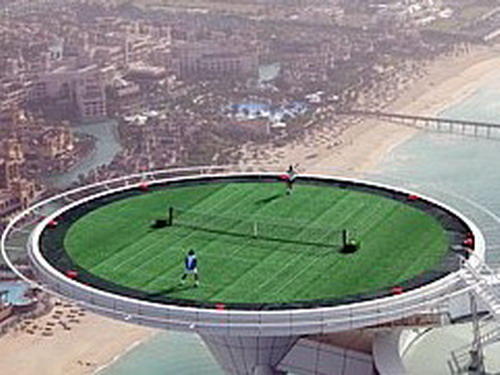 Tennis On The Helipad | Weirdomatic