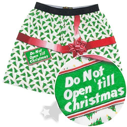 Fun Boxers Don't Open 'Till Christmas Boxer Shorts for Men Clothing
