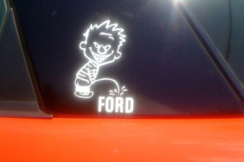Piss On Ford Window Decal