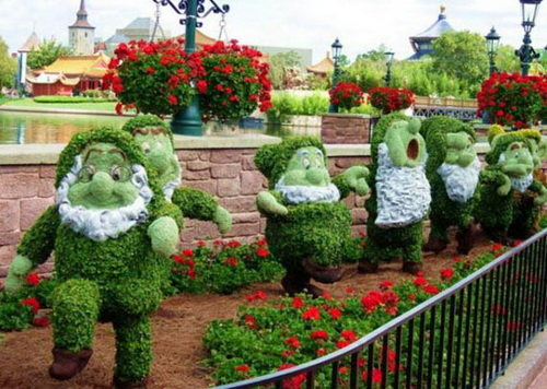 Snow White Dwarfs  made from flowers