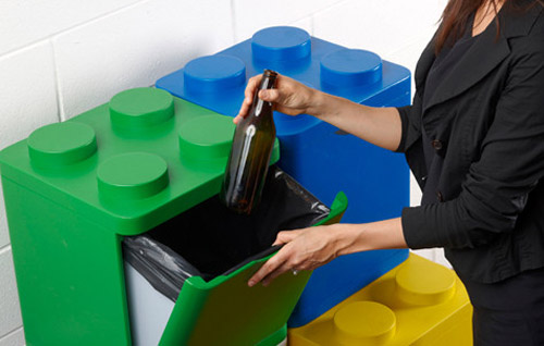 Lego cube garbage cans