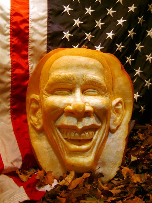 Obama Pumpkin Carving