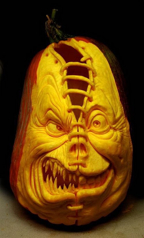 Strange Pumpkin Sculpture