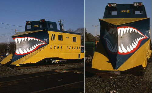Jaws III Shark Painted Snow Trains