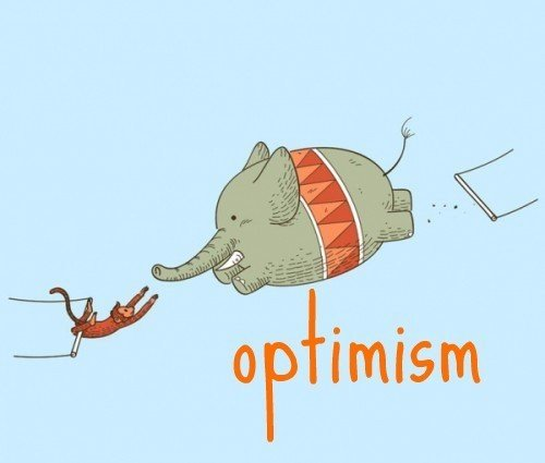 Optimistic Elephant Funny