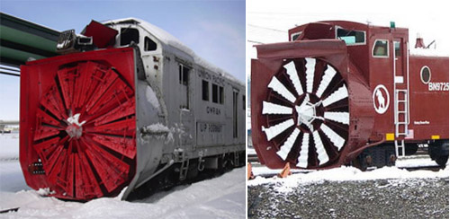 rotary snow breaking giant trains