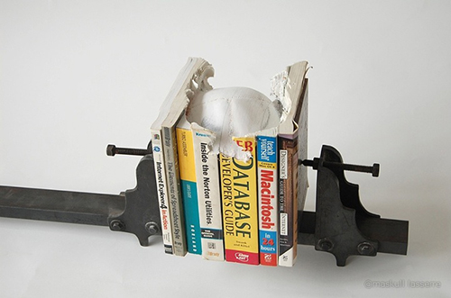 Weird book sculpture
