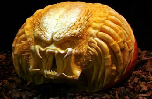 amazing carved pumpkin