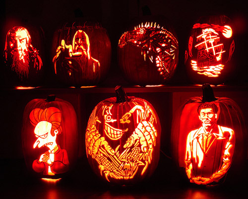 carved faces pumpkins