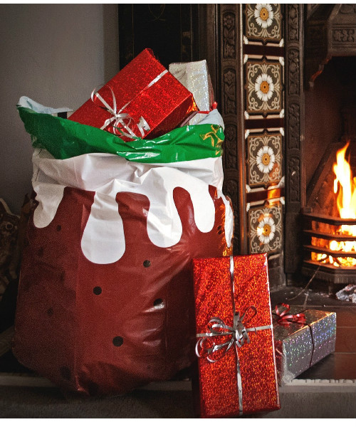 christmas pudding bin bag.