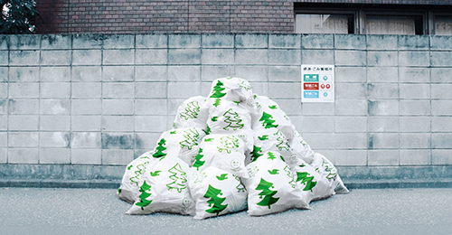 funny christmas season trash bags