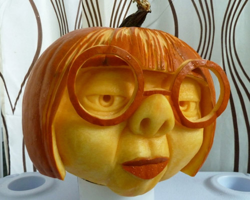 funny face pumpkin.