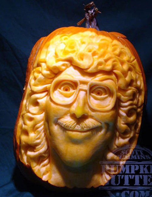 funny face pumpkin